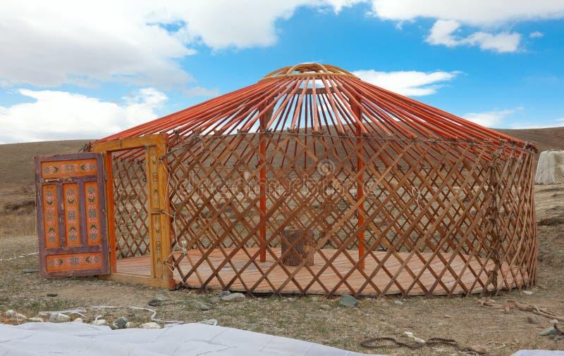 La construcción del yurt foto de archivo