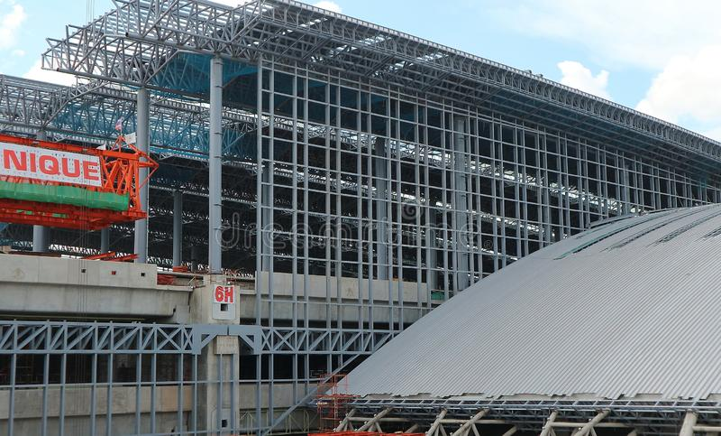 La construcción está en curso en la estación magnífica de Bangsue fotos de archivo