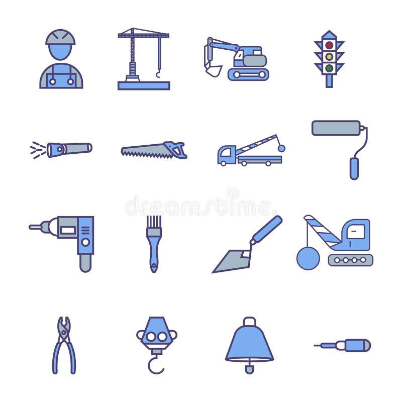 La construcci?n canta el sistema del icono del vector del s?mbolo libre illustration
