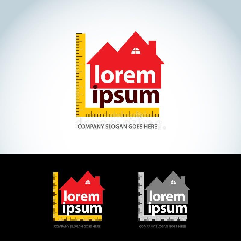 La construction autoguide le calibre de logo Logotype de constructeur de maisons Icône abstraite de Chambre Format de vecteur illustration stock