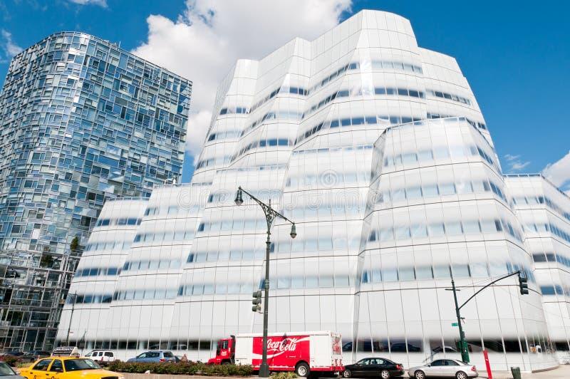La construction d'IAC par Frank Gehry à New York City image libre de droits