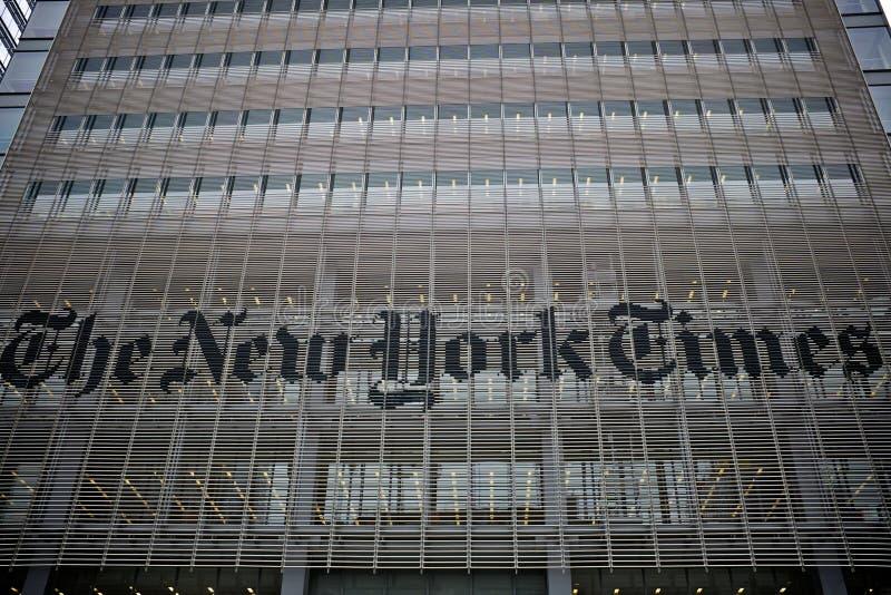 La construction de New York Times photos libres de droits