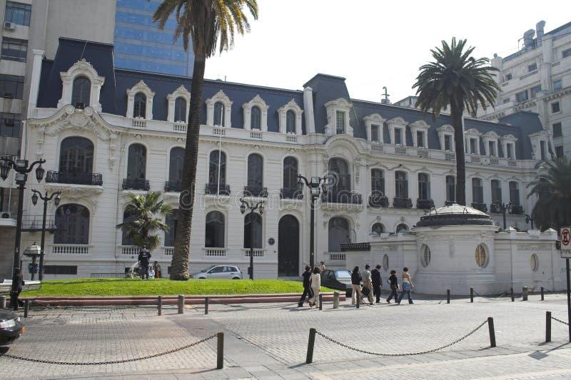 La construction européenne Santiago de type font le Chili photos libres de droits