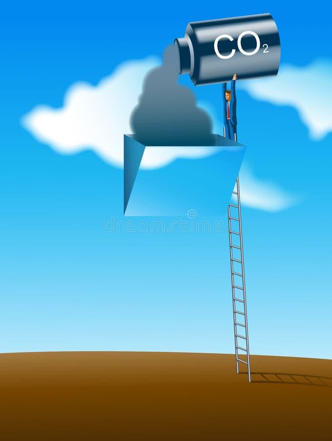 La contaminación atmosférica ilustración del vector