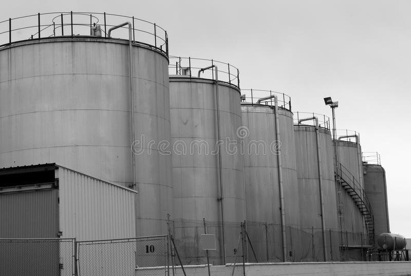La contamination de grandes industries image libre de droits