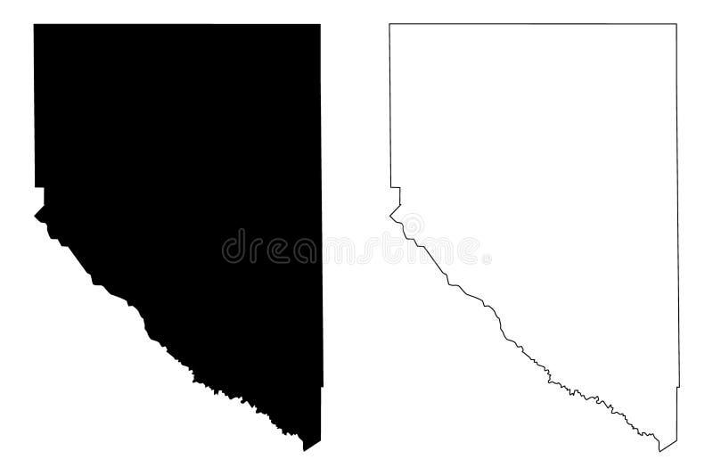 La contea di Hudspeth, Texas Counties nel Texas, Stati Uniti d'America, U.S.A., U S , Illustrazione di vettore della mappa degli  illustrazione vettoriale