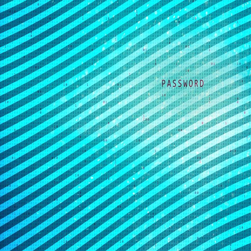 La contraseña abstracta pone letras al fondo digital del código libre illustration