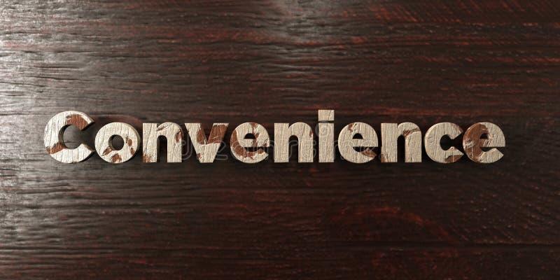 La conveniencia - título de madera sucio en arce - 3D rindió imagen común libre de los derechos stock de ilustración