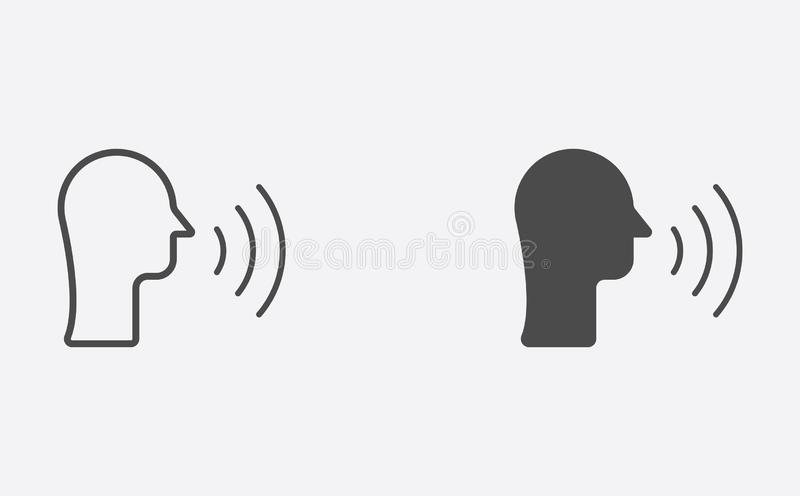 La conversazione hanno riempito ed il simbolo del segno dell'icona di vettore del profilo illustrazione vettoriale