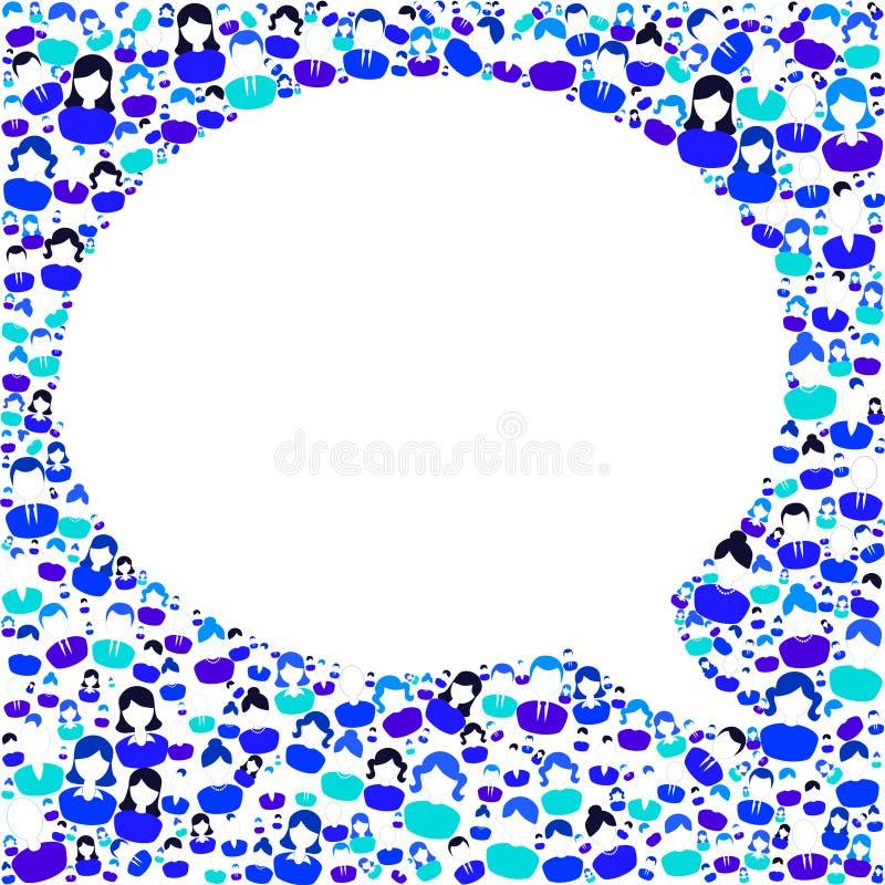 La conversazione risponde al discorso della bolla di domanda illustrazione vettoriale