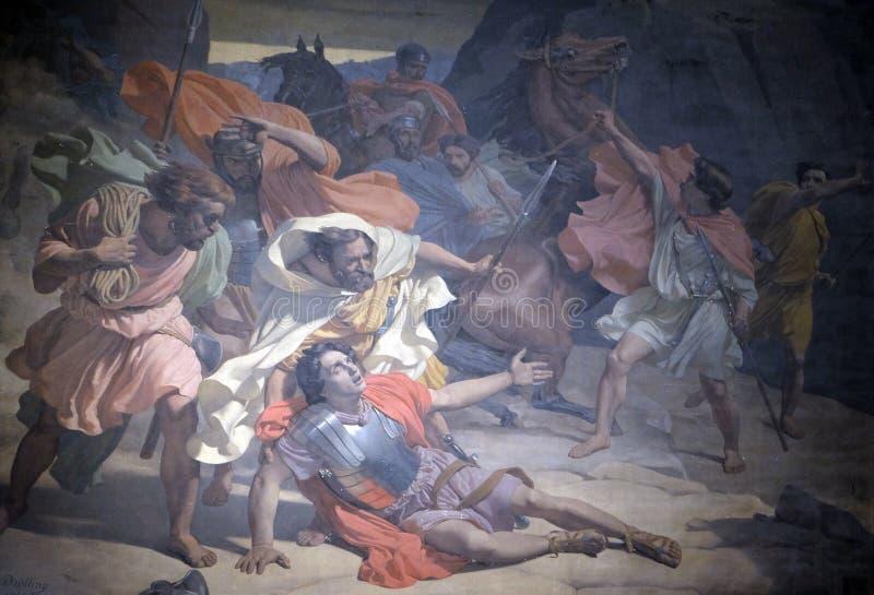 La conversione di St Paul immagine stock