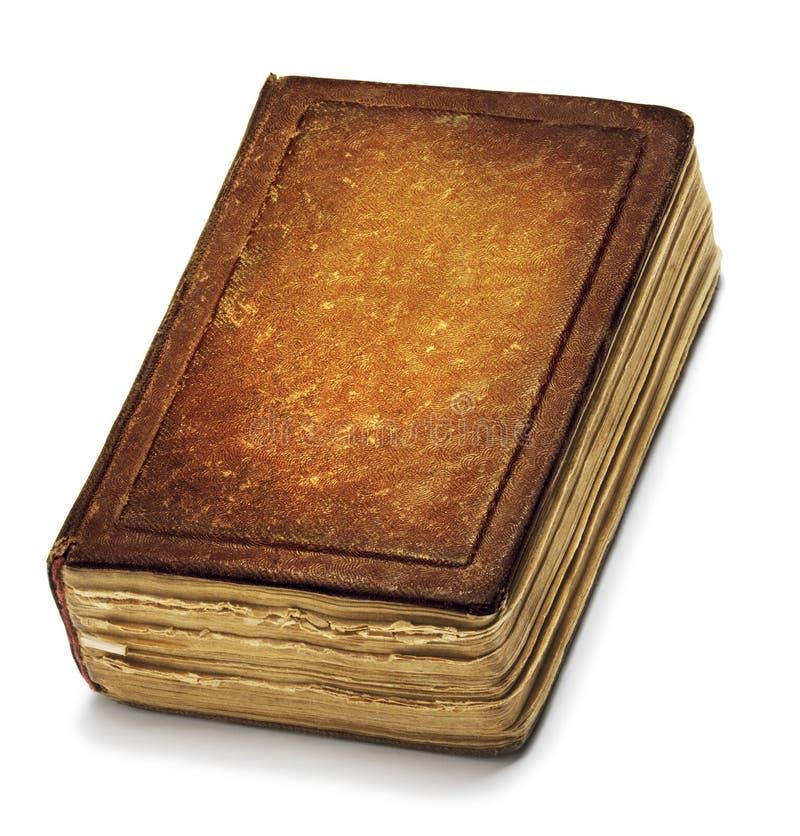 La copertina di vecchio libro, cuoio d'annata di Brown prenota Front Texture immagini stock libere da diritti