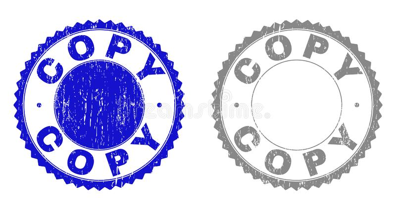 La COPIA del Grunge texturizó filigranas stock de ilustración