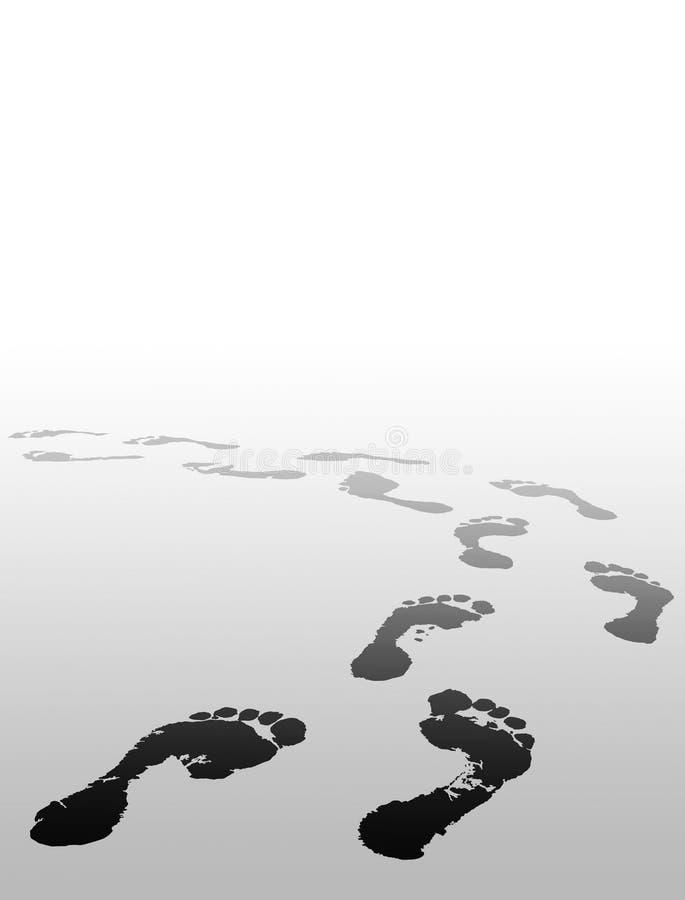 La copie de pied choisissent votre avenir illustration stock