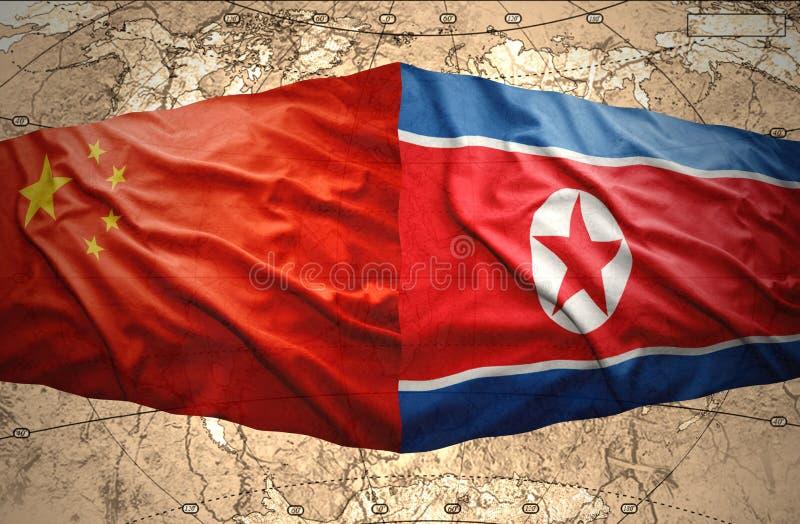 La Corée du Nord et la Chine illustration libre de droits