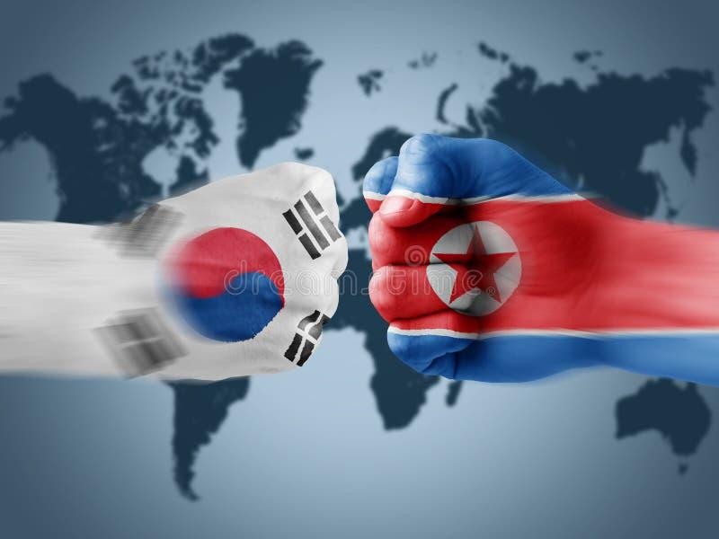 La Corée du Sud X Corée du Nord illustration de vecteur