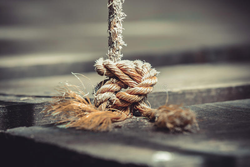La corde nouée photo libre de droits