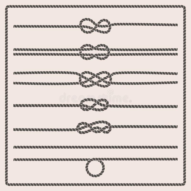 La corde noue l'illustration de vecteur illustration de vecteur