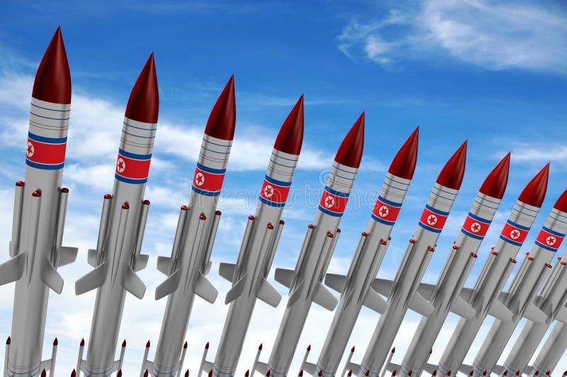 La Corea del Nord, missili royalty illustrazione gratis