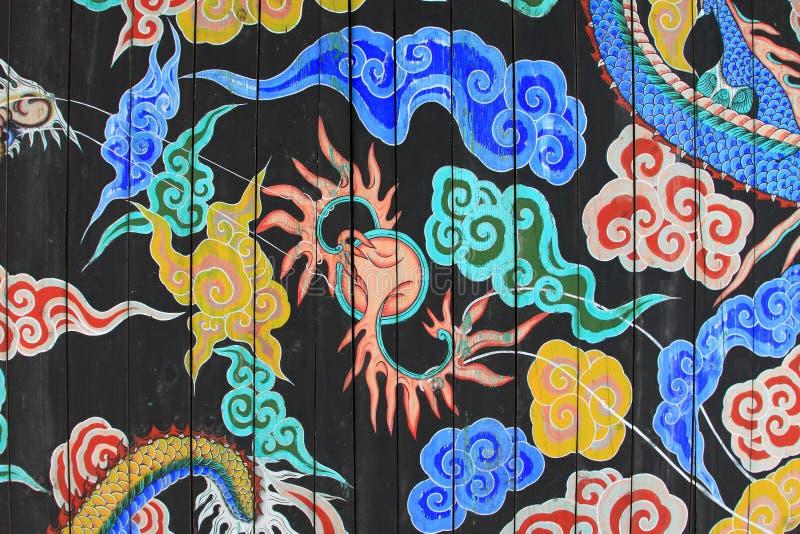 La Corea Dragon Painting fotografia stock libera da diritti