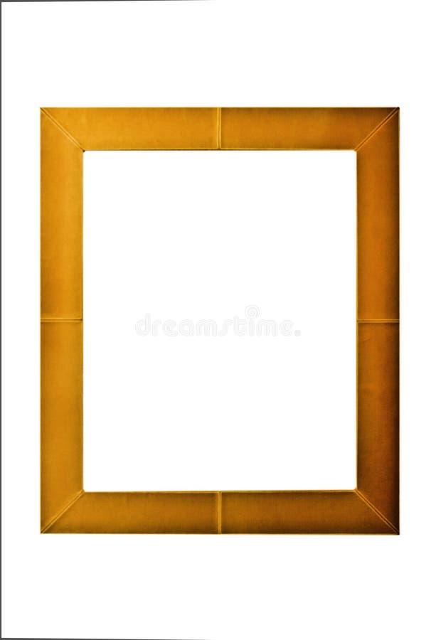 La cornice marrone isolata fotografie stock