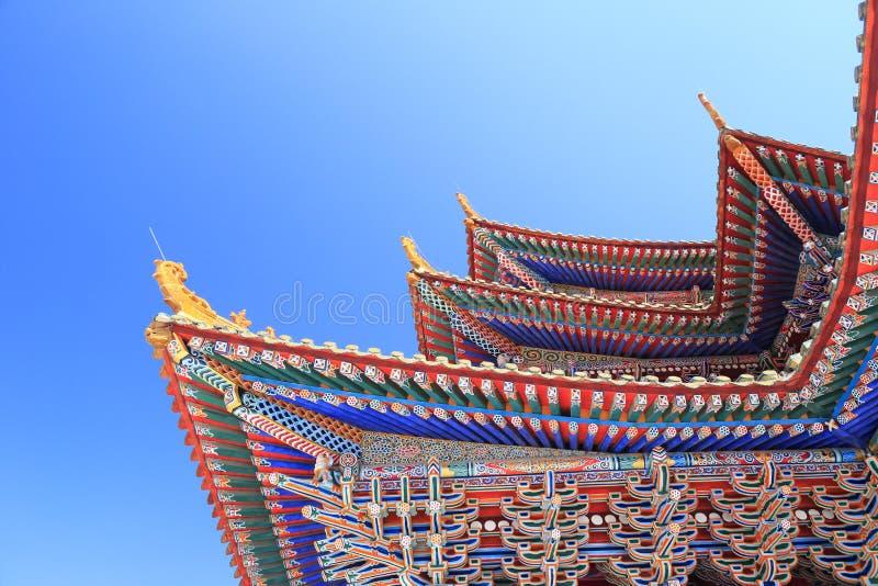 La corniche modelée du temple image libre de droits