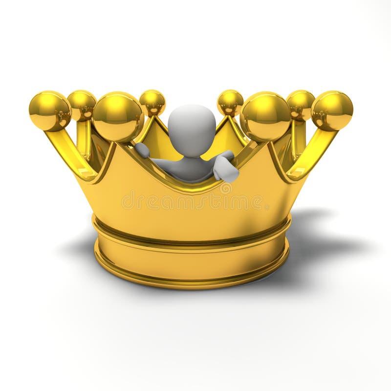 La corona è troppo grande illustrazione vettoriale