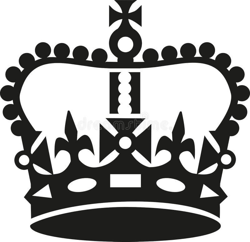 La corona adentro guarda estilo tranquilo stock de ilustración