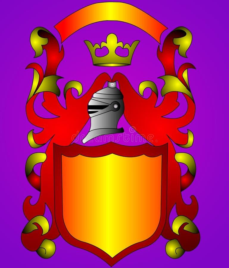 La corona d'écran protecteur et d'or (en) illustration stock