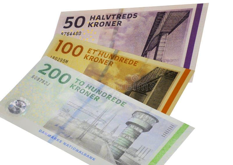 La corona danese nota la DKK immagine stock