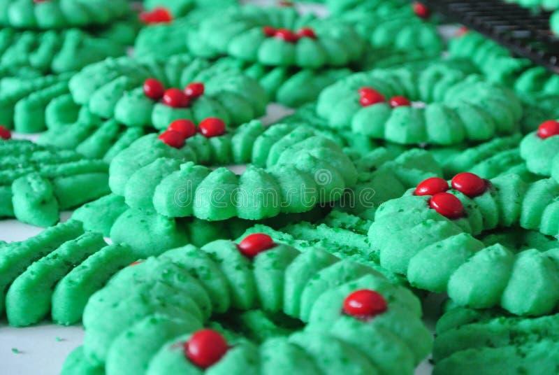 La corona di Natale Spritz i biscotti fotografia stock