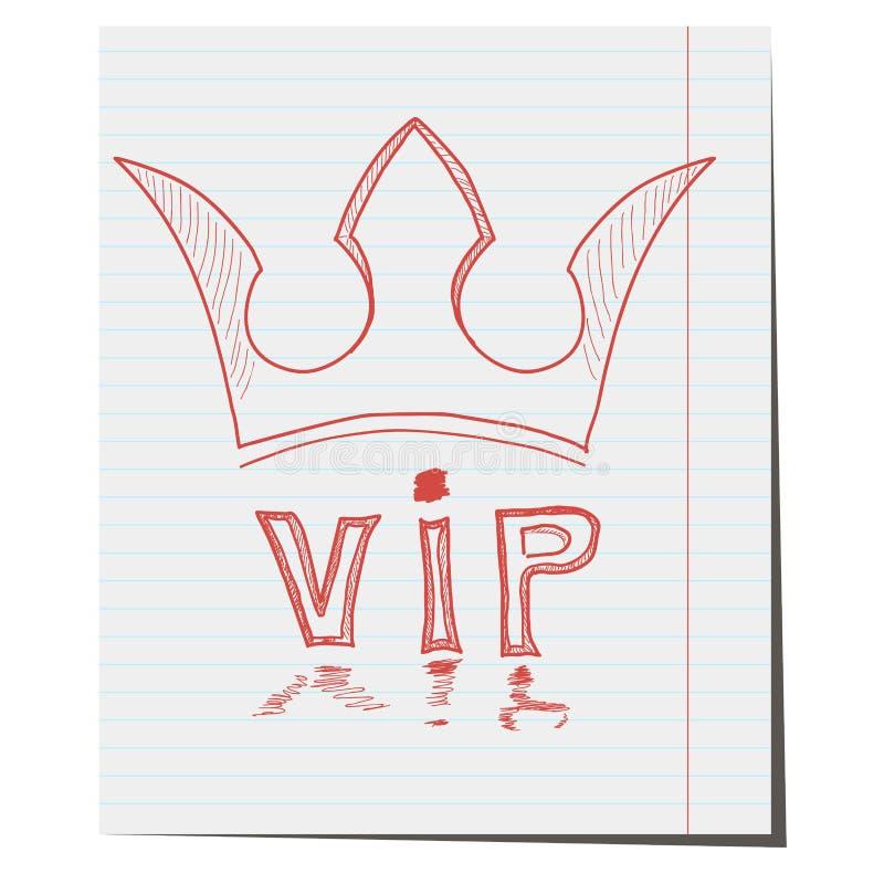 La corona es un símbolo de la clase del VIP a mano stock de ilustración