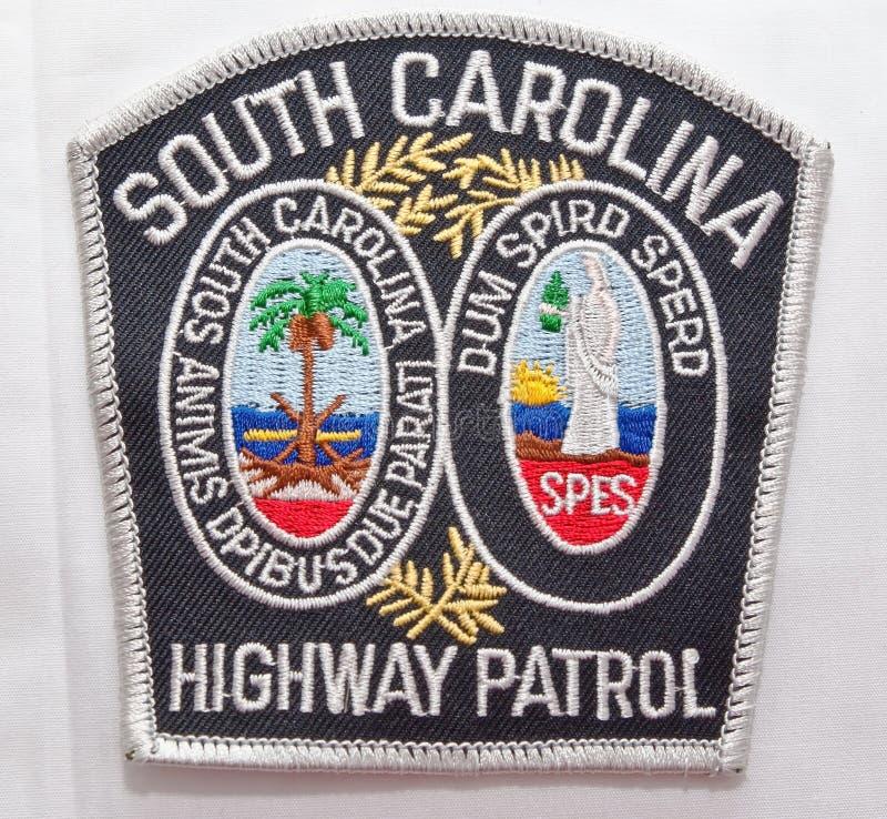 La correction d'épaule de Carolina Highway Patrol du sud en Caroline du Sud image libre de droits
