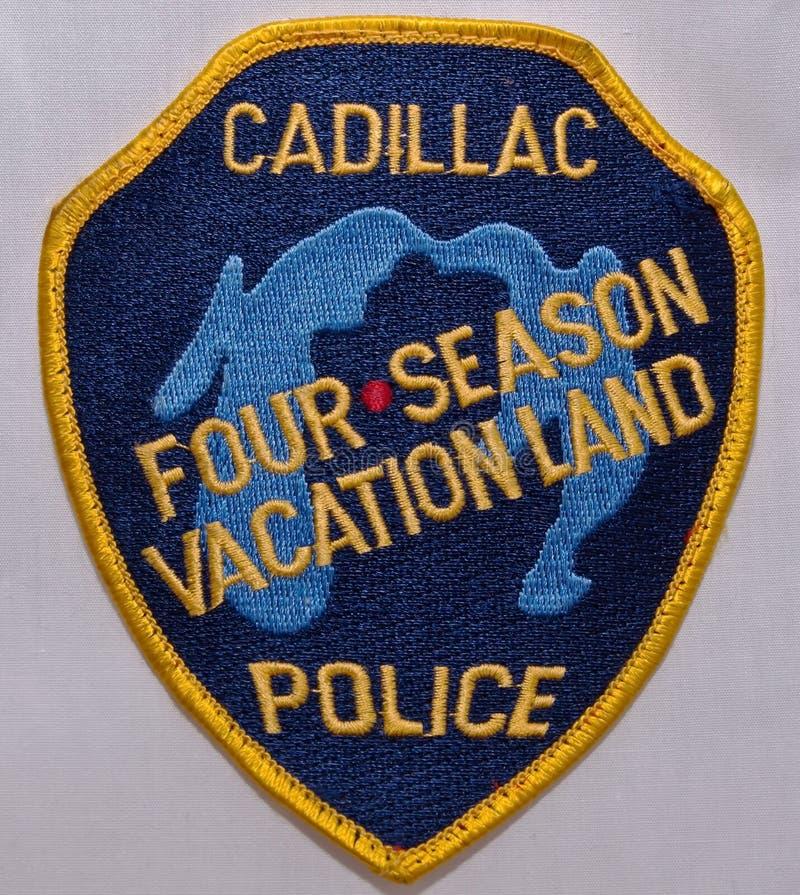 La correction d'épaule du Département de Police de Cadillac au Michigan photographie stock