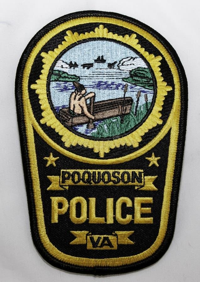 La correction d'épaule du Département de Police de Poquoson en Virginie photos libres de droits