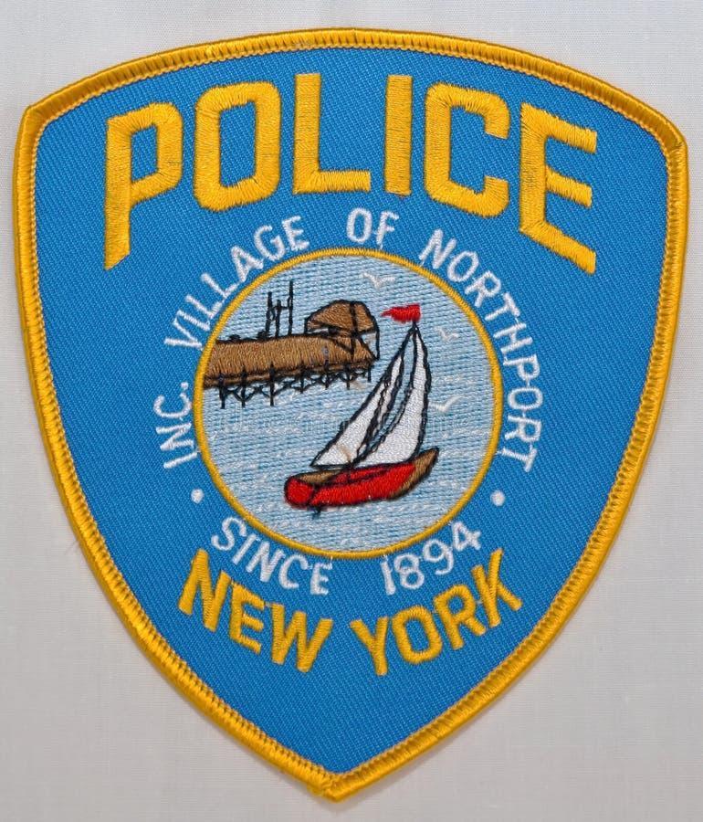 La correction d'épaule du village du Département de Police de Northport à New York photos libres de droits
