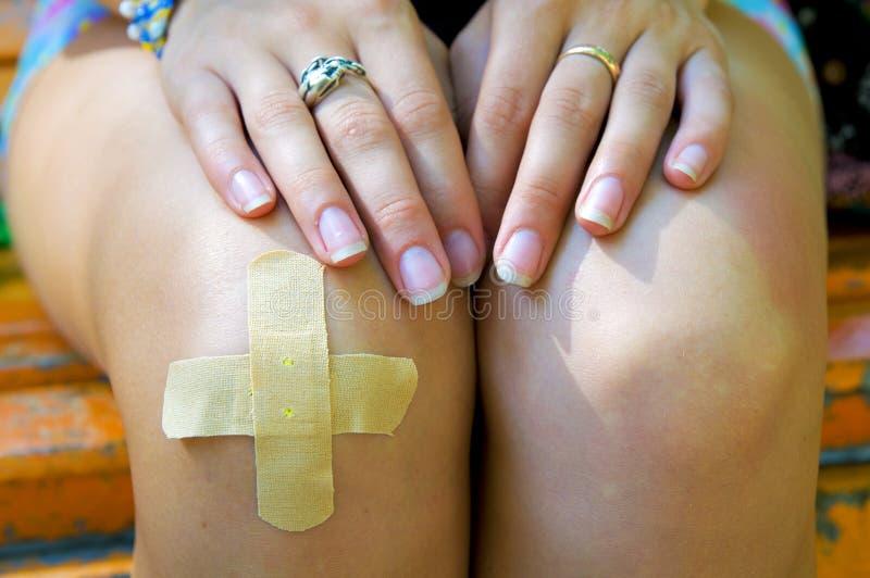 La correction sur le genou. images libres de droits