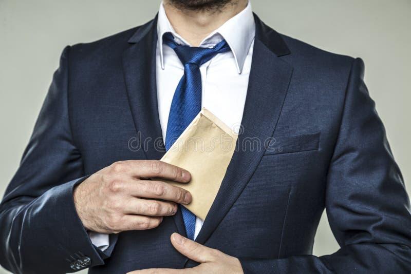 La corrupción en negocio es mala foto de archivo libre de regalías