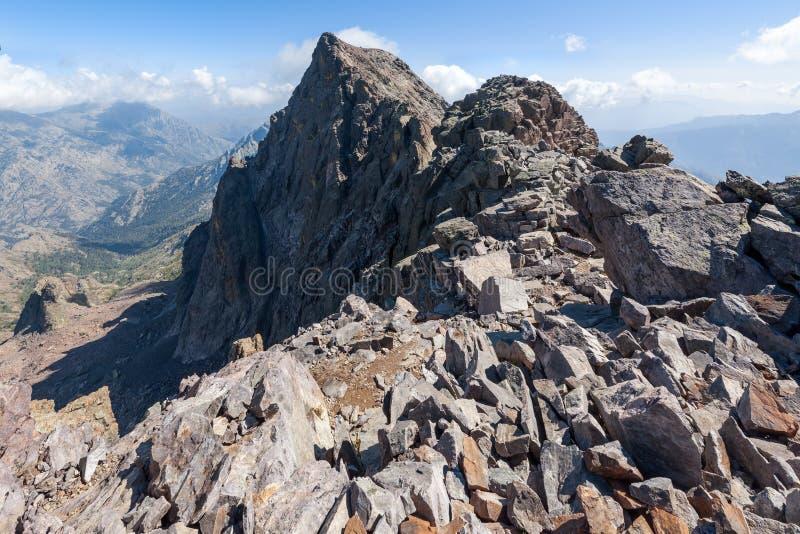 La Corsica, montagne immagine stock libera da diritti