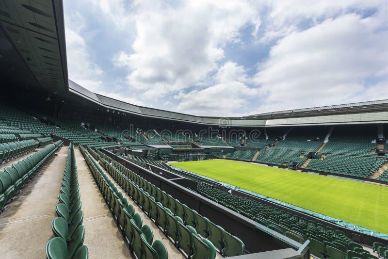 La corte centrale al posto di Wimbledon immagine stock libera da diritti