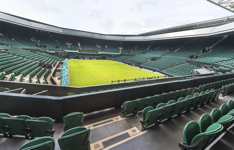 La corte centrale al posto di Wimbledon fotografia stock libera da diritti