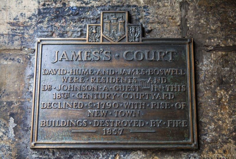 La corte de James en Edimburgo foto de archivo libre de regalías