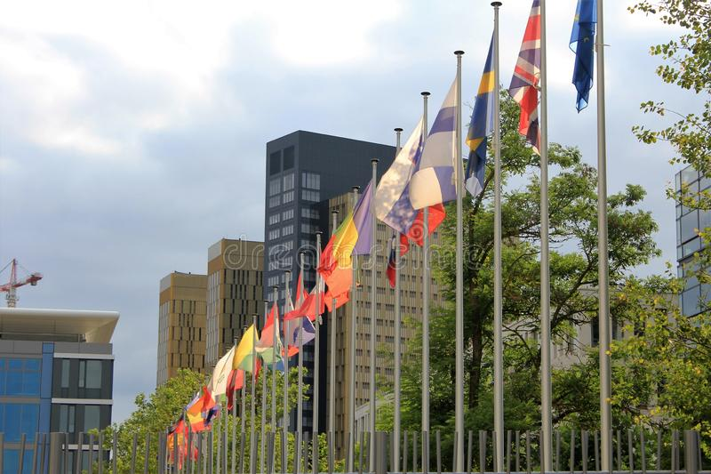 La Corte di giustizia delle Comunità europee a Lussemburgo immagine stock libera da diritti