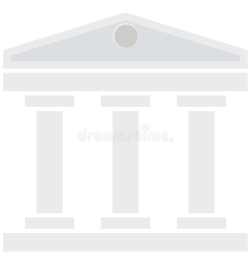 La corte, icone isolate di costruzione di vettore può essere modifica con tutto lo stile illustrazione di stock