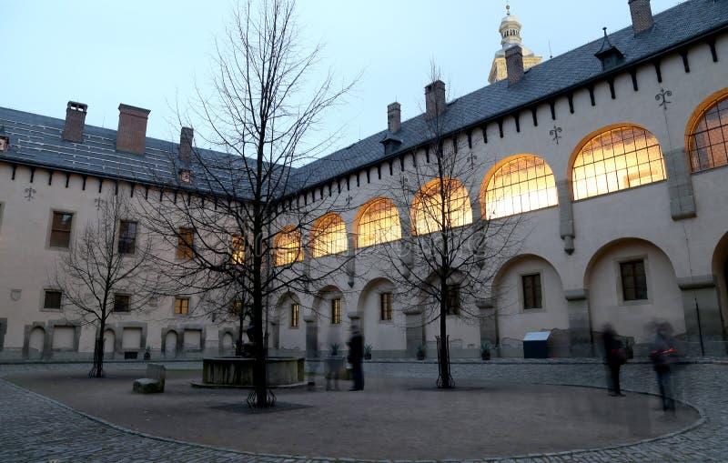 La corte italiana sviluppata nel XIV secolo era una menta reale e una residenza reale, Kutna Hora, repubblica Ceca fotografia stock libera da diritti