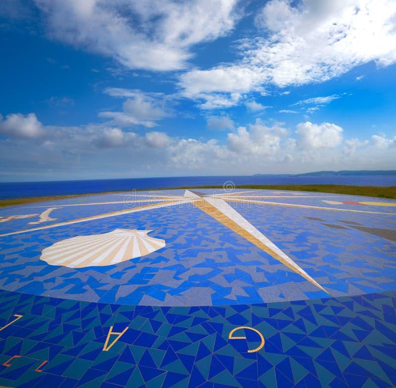 La Coruna compass mosaic Hercules tower Galicia. La Coruna compass mosaic floor near Hercules tower in Galicia Spain stock photo