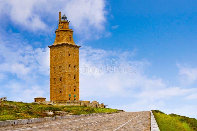 La Coruna Hercules tower Galicia Spain. La Coruna Hercules tower in Galicia Spain royalty free stock image