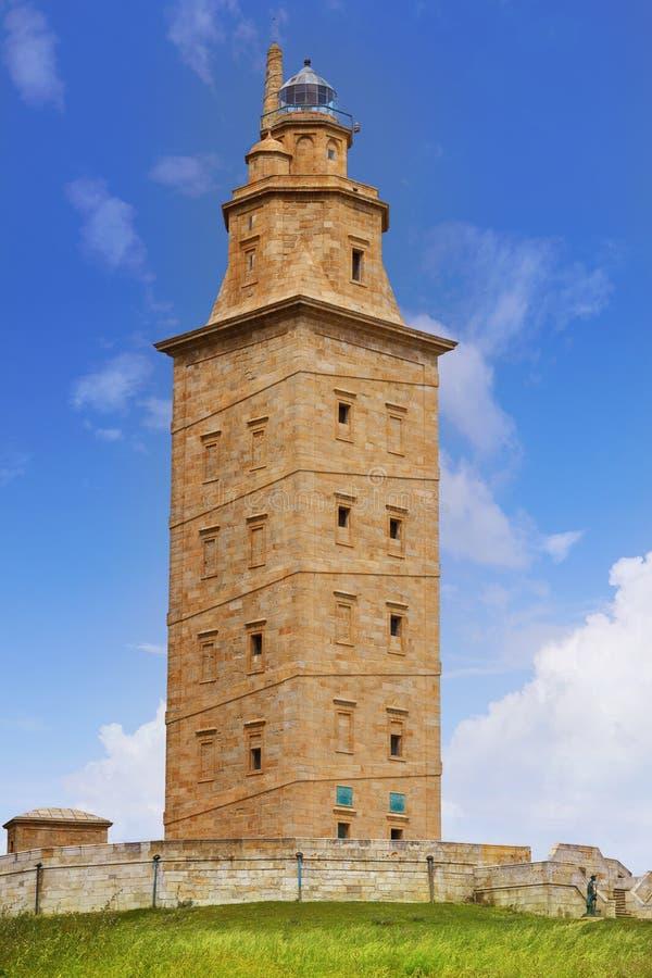 La Coruna Hercules tower Galicia Spain. La Coruna Hercules tower in Galicia Spain stock photography