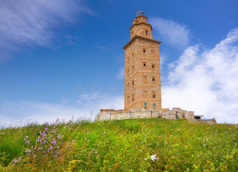 La Coruna Hercules tower Galicia Spain. La Coruna Hercules tower in Galicia Spain royalty free stock photos