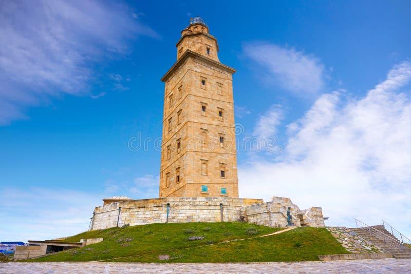 La Coruna Hercules tower Galicia Spain. La Coruna Hercules tower in Galicia Spain royalty free stock images